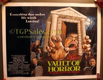"Vault of Horror - 22"" x 28"" original movie poster 1973 Tom Baker"