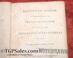 History of Europe from 1789 to 1815 by Archibald Alison 1844