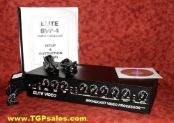 SOLD - Elite BVP-4 Plus Broadcast Video Processor with power supply [tgp455]