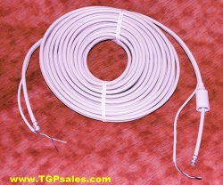 Winegard RG59 type coax cable w. attached 2 conductor wire 45ft.