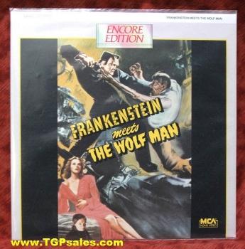 Frankenstein Meets the Wolf Man - Lon Chaney, Jr (collectible Laserdisc)