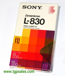 Sony Dynamicron L-830 Beta tape - New
