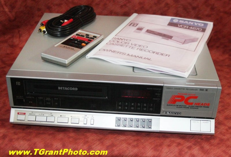 We buy select VCRs | TGP Sales - a subsidiary of TGrant Photo