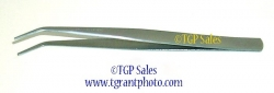 """6"""" stainless steel Tweezers, bent tip style"""