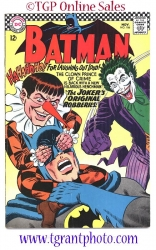 Batman #186  November 1966 Joker cover story