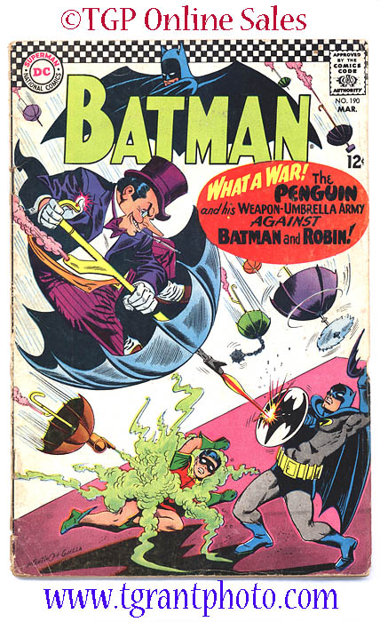 Batman 190 March 1967 Penguin Appearance Tgp Sales A