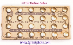 SAFE-T-HED thumb tacks circa 1940 - Shiny head - Vintage