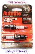 Autolite copper core 3924 spark plugs - set of 2
