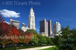 Collectible Art Print - 'Columbus in the Fall' by photographer Thomas S. Grant