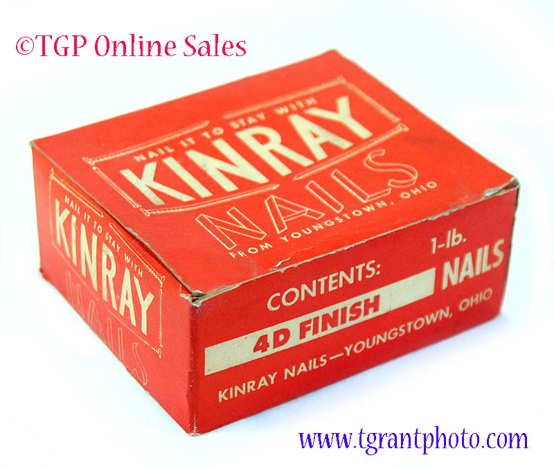 Kinray 4d Nails Box Vintage Collectible Tgp Sales