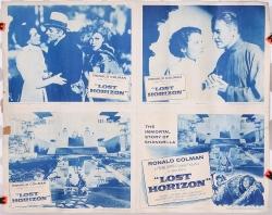 "Lost Horizon (1937) four 11"" x 14"" 1956 reissue original lobby cards"