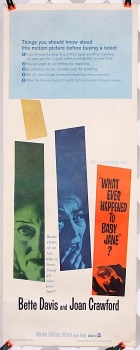 "Whatever Happened to Baby Jane? (1962) 14"" x 36""- original movie poster"