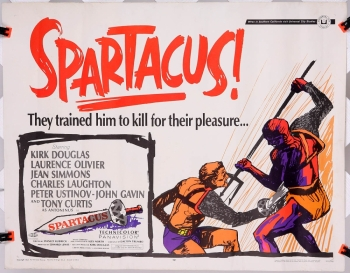 "Spartacus (1967 reissue) 22"" x 28"" - original movie poster"