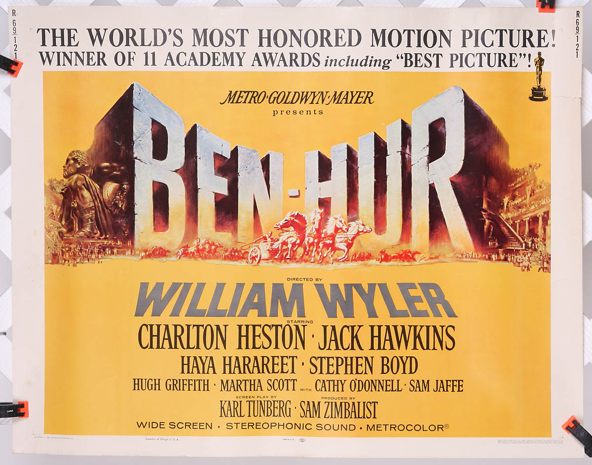 Ben Hur 1969 Reissue 22 Quot X 28 Quot Original Movie Poster