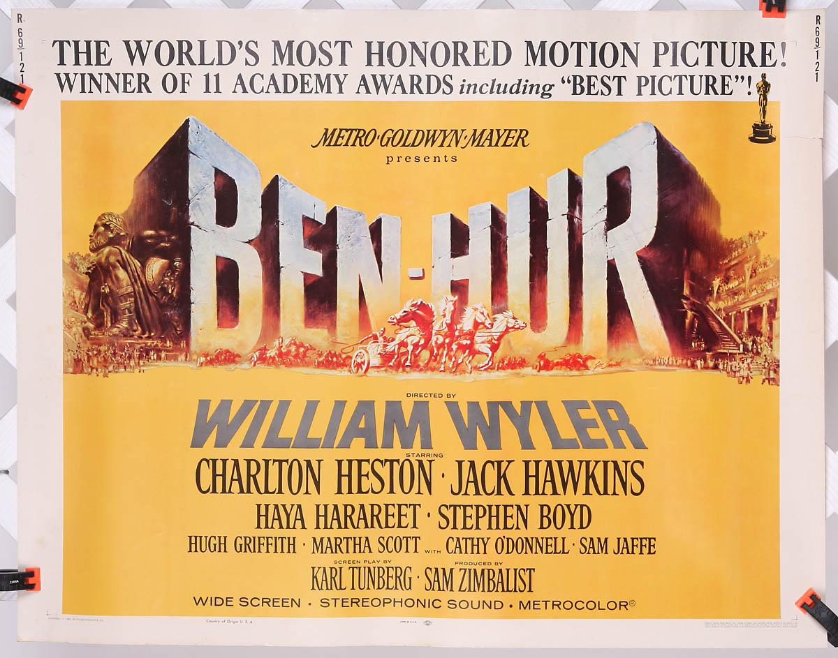 Ben Hur 1969 Reissue 22 Quot X 28 Quot Original Movie Poster