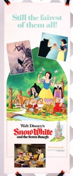 """Snow White and the Seven Dwarfs (1975 re-issue poster) -  14"""" x 36"""" - original movie poster"""