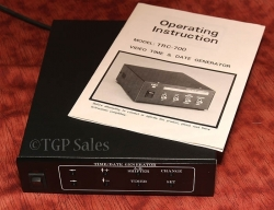 Digital Time and Date generator - add time & date to any video source TRC-700
