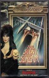 Elvira - The Silent Scream with Peter Cushing (collectible VHS tape) Thriller Video