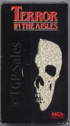 Terror in The Aisles (1984) collectible VHS tape