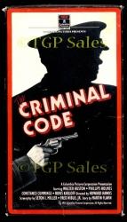 Criminal Code [1931] with Walter Huston, Boris Karloff - OOP(collectible VHS tape)