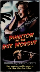 Phantom of the Rue Morgue (1959)  - Horror -  (collectible VHS tape)