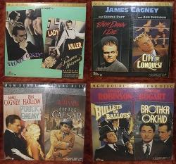Jimmy Cagney - Little Caesar, Public Enemy plus more titles - 4 album set (collectible Laserdisc)