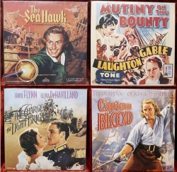 Errol Flynn - Clark Gable - Mutiny on the Bounty - Sea Hawk - Captain Blood - Charge Light Brigade - swashbucker - 4 album set (collectible Laserdisc)