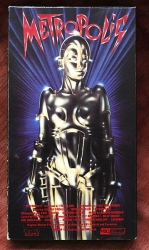 Metropolis - silent classic with Giorgio Moroder score - directed by Fritz Lang (collectible VHS tape)
