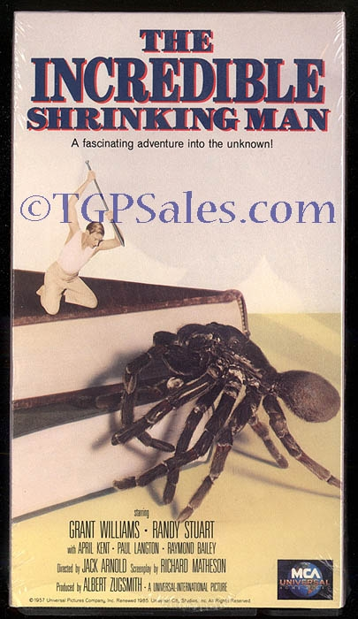 Incredible Shrinking Man- sci-fi - horror (collectible VHS tape) | TGP  Sales - a subsidiary of TGrant Photo
