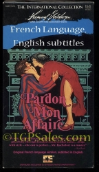 Pardon Mon Affaire - French w. Eng subtitles  (used VHS tape)