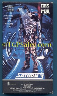Saturn 3 (1980) sci-fi - adventure - Farrah Fawcett, Kirk Douglas - used VHS tape