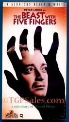 Beast with Five Fingers - classic horror - Peter Lorre  (collectible VHS tape)