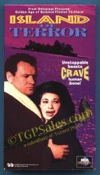 Island of Terror - 60's horror - sci-fi - Peter Cushing, Edward Judd - Like new VHS