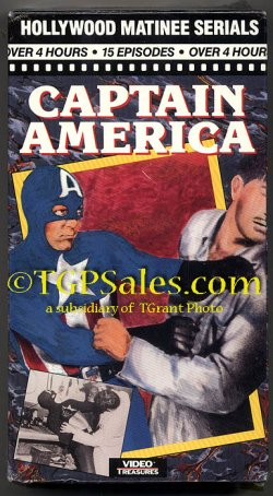 Captain America - Republic Pictures serial -  used VHS