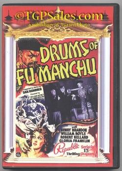 Drums of Fu Manchu (1940) - classic Republic serial - used DVD - VCI 089859829628