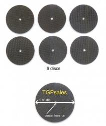 6  FIBERGLASS REINFORCED CUT OFF WHEELS fits Dremel type rotary tools
