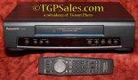 Panasonic PV-7453 VHS  VCR - 4 head Hi-Fi Stereo - Dark front display LED