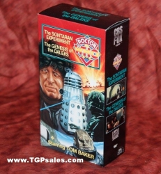Doctor Who: The Sontaran Experiment & The Genesis of the Daleks (1975) CBS/FOX Home Video VHS, ISBN: 0-7939-5946-2