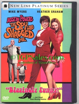 Spy Who Shagged Me - Mike Myers as Austin Powers (collectible DVD) ISBN 0-7806-2840-3