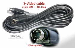 S-Video cable - 8ft - 4 DIN pin - male-to-male