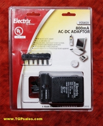 Electrix AC to DC power adapter 800ma CV015