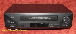 Sharp VC-A410u VHS VCR w. remote - refurbished