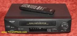 Sharp VC-A410u VHS VCR w. remote - refurbished [TGP959]