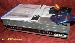 SOLD - Magnavox MWR20V6 - VHS to DVD recorder all-in-one - w. remote + discs