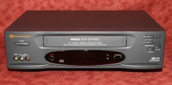 White Westinghouse WVCR-8600 VCR w. HiFi sound & 4 video heads [TGP538]