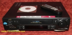 JVC 3600U VCR - Super VHS ET Plug & Play, HR-S3600U with video stabilizer, S-VHS, Hi-Fi [tgp445]
