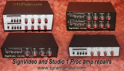 Repair Service for SignVideo and Studio 1 Productions Video Processor